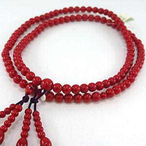 古渡珊瑚女性用数珠1