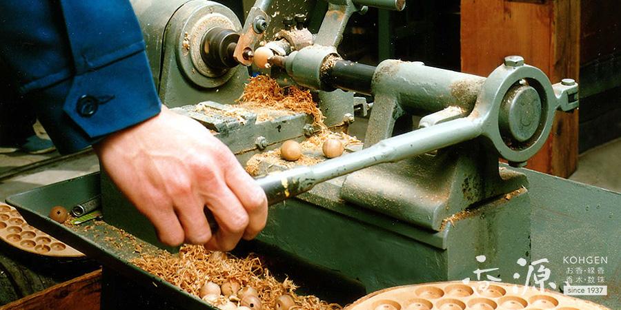 古材加工でつくる数珠