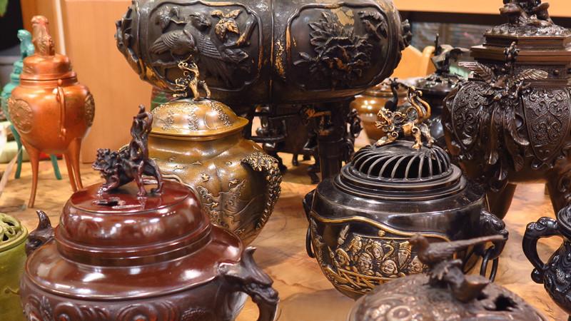 高岡銅器香炉集合
