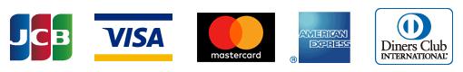 VISA・Master Card・JCB・AMERICAN EXPRESS・Diners Club